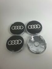 Nabenkappen Schwarz für Audi Set 4-teilig 60mm Radkappe Felgendeckel Felgenkappe