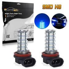 Pair Ultra Blue 68-SMD 3528 LED H11 H8 LED Bulbs For Fog Driving Light