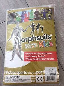 Morphsuits Kids Black and White Check Kids Fancy Dress Costume,age 6-8 Years New