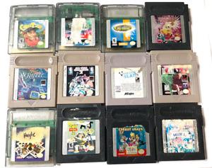 LOT OF 12 NINTENDO GAMEBOY & Gameboy COLOR GAMES