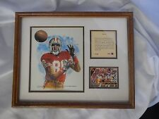 1993 Football Framed and Matted Jerry Rice Kelly Russell studios artwork