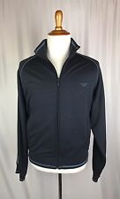 Calvin Klein Jeans Blue Navy Zip Front Knit Jacket Stripe Arm NEW Size XL $69