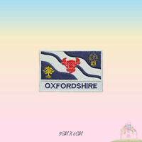 OXFORDSHIRE UK County Flag With Name Embroidered Iron On Patch Sew On Badge