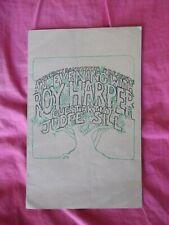 ROY HARPER / JUDEE SILL 1973 TOUR PROGRAMME