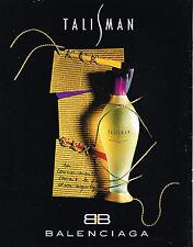 PUBLICITE ADVERTISING 025  1994  TALISMAN  parfum de BALENCIAGA