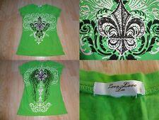 Women's Love Love Lo S Shirt Bling Green Saints Look Design See Measurements