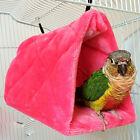 Bird Hammock Hanging Cave Cage Plush Snuggle Tent Bed Bunk Parrot Random