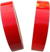 REFLECTIVE TAPE RED 25MM x 5M - WEATHERPROOF STRONG