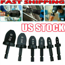 6x Swaging Tool Drill Set Air Conditioner Copper Pipe Flaring Tube Expander Zo