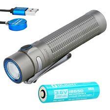 Olight Warrior Mini Winter (Titanium Gray) 1500 Lumen Rechargeable Flashlight
