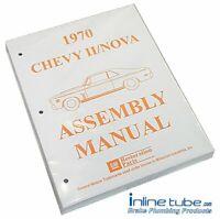1970 Chevrolet Nova Chevy II 2  Factory Assembly Rebuild Instruction Manual Book