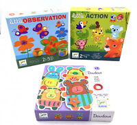 Lot de 3 jeux éducatifs pour enfants Djeco - Memo / Laçage / Jeu - 2 / 5 ans