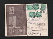 Germany Otto Edenharter Zeppelin Specialist Munich 1932 Business Cover - USA 6z