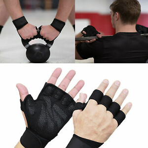 AU_ Women Men Half Finger Work Out Gym Gloves Sport Weight Lifting Exercise Fitn