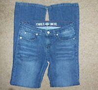 DICKIES WOMEN'S JEANS Pants Size 4 RG SLIM STRETCH Inseam-33 BLUE DENIM BOOT CUT