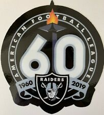 OAKLAND RAIDERS 60TH ANNIVERSARY DECAL VINYL STICKER NFL FOOTBALL 1960 - 2019