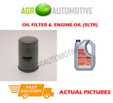 PETROL OIL FILTER + FS 5W40 ENGINE OIL FOR OPEL FRONTERA 2.0 116 BHP 1994-98