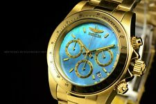 Invicta 39.5mm Connection Men Gold Plated Blue Mother of Pearl Gold Tone Watch