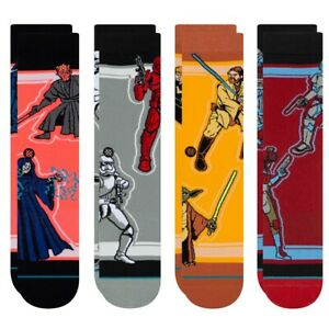 Stance NEW Unisex Star Wars Duos 4 Pack Socks - Multi BNWT