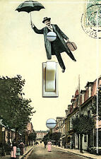 Umbrella Man Vintage Illustration Decorative Switch Plate *Free Shipping*