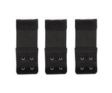 3 rallonges extensions soutien gorge noir , 2 crochets - 3 x 8/10 cm