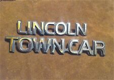 1990-1997 Lincoln Town car emblems (2 pieces) posts and chrome good emblem