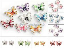 5/10x 3D Schmetterlinge Charms Anhänger Emaille zum Basteln für Bettelarmband