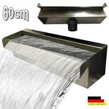 """Wasserfall 60 cm Edelstahl Waterfall Wasserspiel Kaskade V2A  """"Made in Germany"""""""