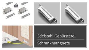 Edelstahl  Magnetschnäpper Schrank Türmagnet Magnet-Schnapper Möbelmagnet