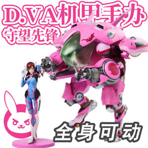 Anime Overwatch D.VA Mobile PVC Action Figure Model Statue Toy Boxed Gifts