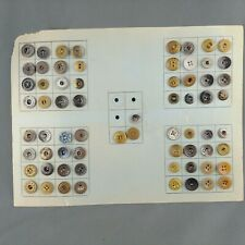 Lot of 67 Vintage Uniform Buttons Metal Bakelite on Card Boston New York
