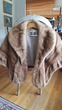 MINK FUR BROWN STOLE WINTER WEDDING CAPE WRAP