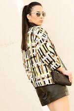 ZARA WOMAN Imprimé Tissé géométrique blogueurs kimono blazer jacket M 10 12 38 40!