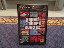 Grand Theft Auto III PS2 (2001) Inc. Map and Manual, Excellent