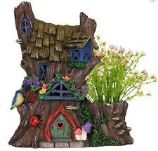 Planter Solar Fairy House Outdoor Garden Decor Brand New In Box