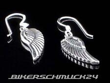 Bikerschmuck Ohrhänger Engelsflügel Angel Wings 925 Silber Damen Ohrringe