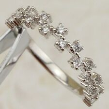 Size 5 Elegant Magic Nice White CZ Gems Jewelry Gold Filled Woman Ring R2447-19