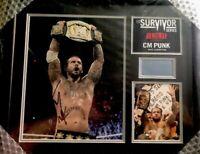 CM Punk WWE Survivor Series 2011 Signed Plaque 13 of 500 WWF UFC Autographed