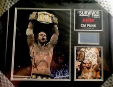 CM Punk WWE Survivor Series 2011 Signed Plaque 13 of 500 WWF UFC Autographed