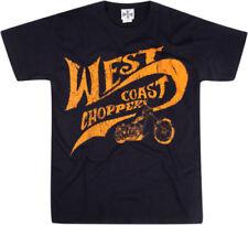 Magliette da uomo blu West Coast Choppers in cotone