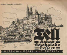 DRESDEN, Werbung 1924, Hartwig & Vogel AG TELL Kakao Schokolade Dessert