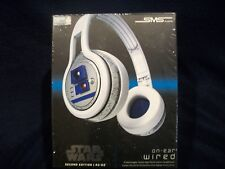 Star Wars On-Ear Wired Headphones SMS Audio R2-D2 New Sealed w/ Carrying Case