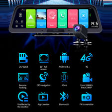 10 Inch Streaming 4g Android 1080p Rearview Mirror Dash Cam Camera Night Vision