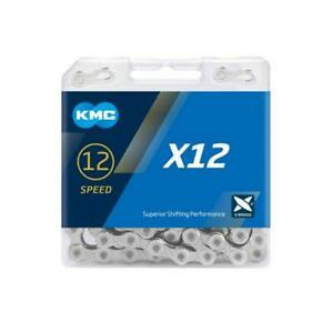 New Silver KMC X12 12 Speed Chain 126 Links Road MTB Chains Bike Chains Siver