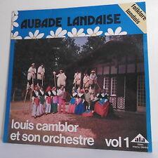"""33T Louis CAMBLOR Vol 1 Disk LP 12"""" AUBADE LANDAISE Dutch Folklore AF 20864"""