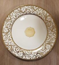 NEW (2) Ciroa Luxe Porcelain with Metallic Accent Gold Velluto Dinner Plates