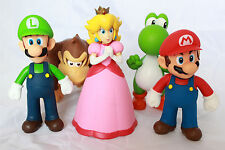 Super Mario Action Figures Set Collection Brothers Bros Luigi Peach Kong Yoshi
