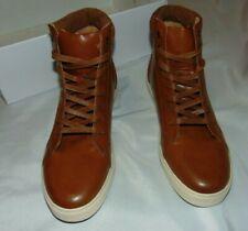 NEW Mens ROBERT WAYNE Cognac Brown DANIEL Ankle Boots w/Rubber Soles Size 9.5 D