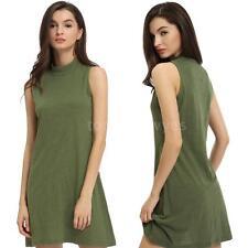 Cotton Polo Neck/Roll Neck Plus Size Dresses for Women