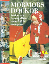 SWEDISH DOLL CLOTHES Mormors Dockor by Inger Silverstolpe patterns to knit & sew